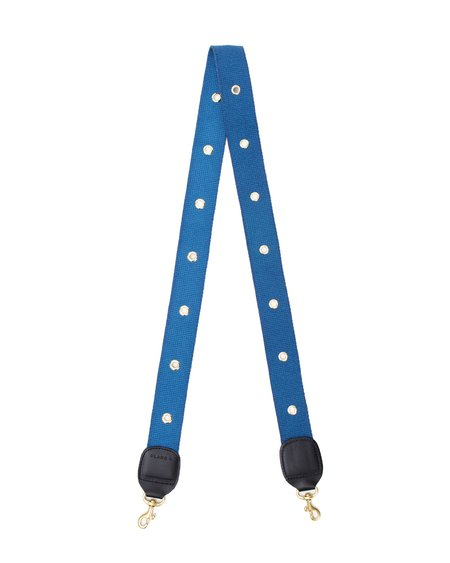 Clare V. Crossbody Strap - French Blue w/ Grommets