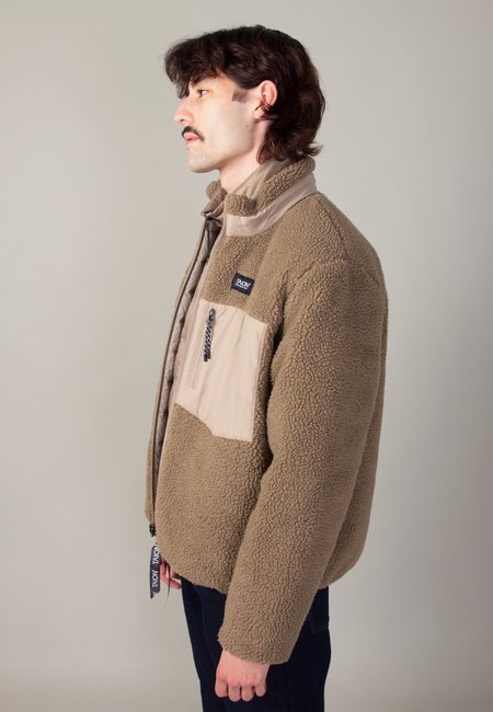 TAION Down x Boa Reversible Jacket - gray/beige
