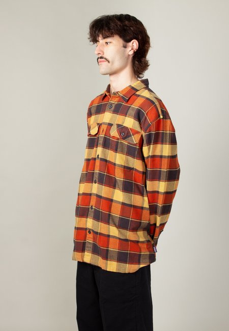 Patagonia Fjord Flannel Shirt - plots burnished red