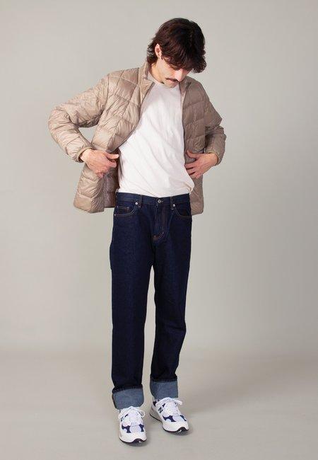 TAION Hi Neck Zip Down Jacket - khaki