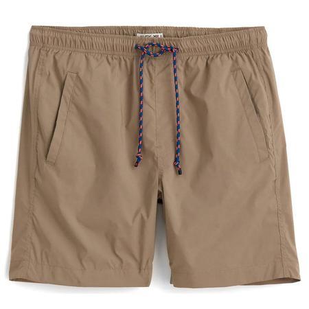 Alex Mill Pull On Italian Tech Fabric  Shorts - Khaki