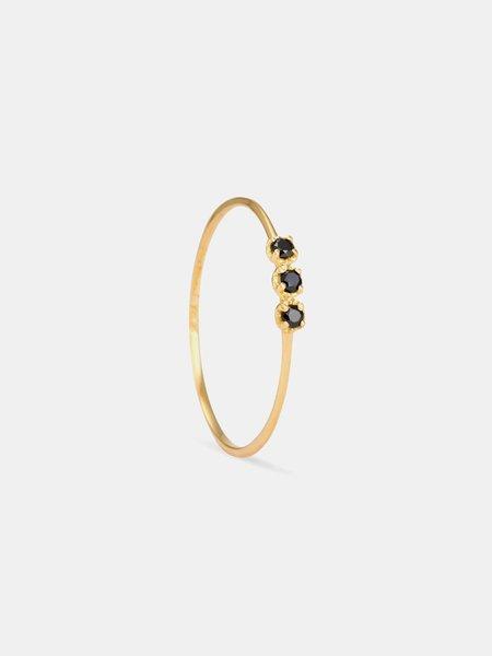satomi kawakita black diamond orion ring - Gold