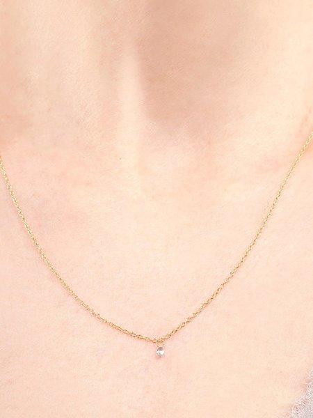 satomi kawakita diamond drop necklace - Gold