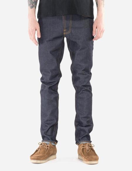 Nudie Lean Dean Jeans Slim Tapered Dry 16 Dips denim - Indigo