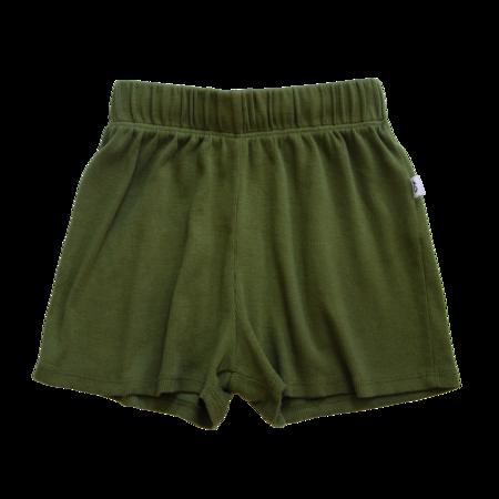 kids Granelito Ribbed Shorts - Olivine