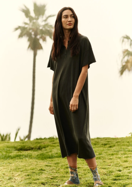 The Great. Polo Dress - Washed Black