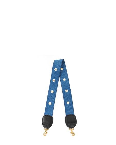 Clare V. Shoulder Strap w/ Grommets - French Blue
