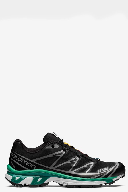 SALOMON XT-6 sneakers - Black/White/Mint Leaf