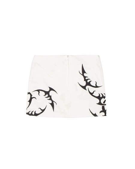 MISBHV Hardcore Print Skirt - white
