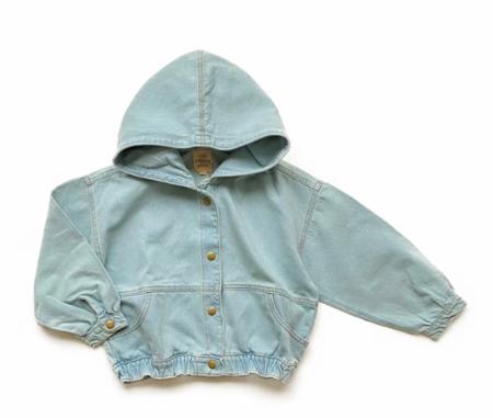 KIDS Little Urban Apparel Denim Hooded Jacket - BLUE