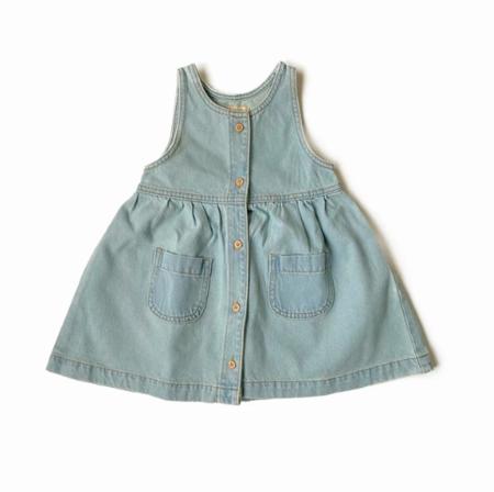 KIDS Little Urban Apparel Vintage Wash Dress - BLUE