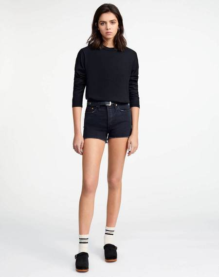 RE/DONE 70s High Rise Short - Midnight Black