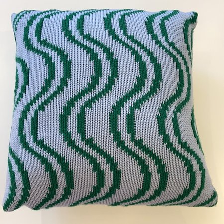 Nina Cherie Big Wavy Cushion - Light Blue/Teal
