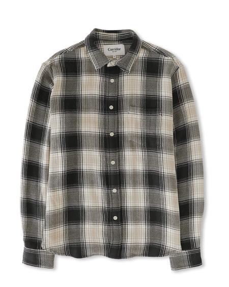 Corridor Acid Plaid Long Sleeve Shirt - Black