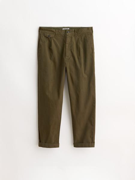 Alex Mill Standard Pleated Pant - Military Olive