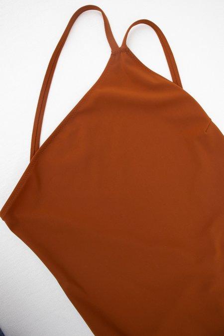 Lido Quindici One-Shoulder Suit - Terracotta