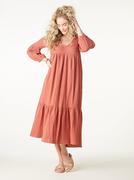 Rachel Pally Gauze Cecelia Dress - Persimmon