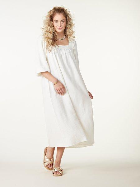Rachel Pally Pucker Linen Simone Dress - Cloud Check