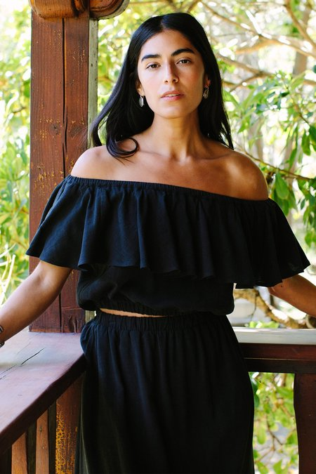 Rachel Pally Linen Naomi Top - black