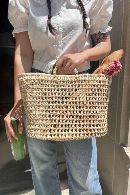 Cloak and Dagger NYC PALM KNIT BASKET - natural