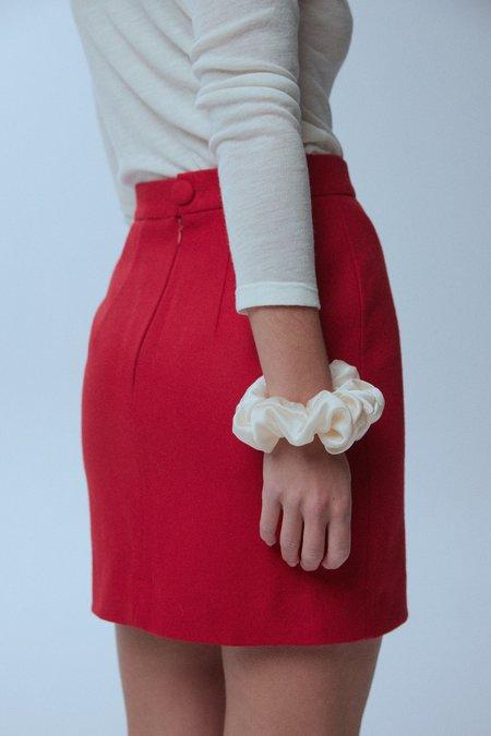 baaby Deadstock Wool Felt Mini SKIRT - RED