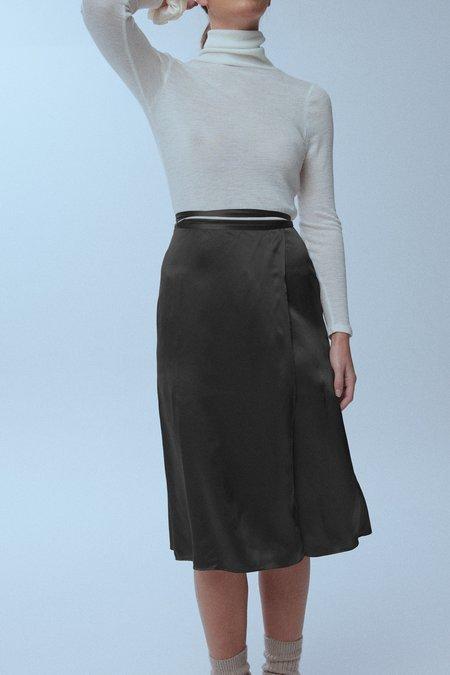 baaby Silk Wrap Skirt - BLACK