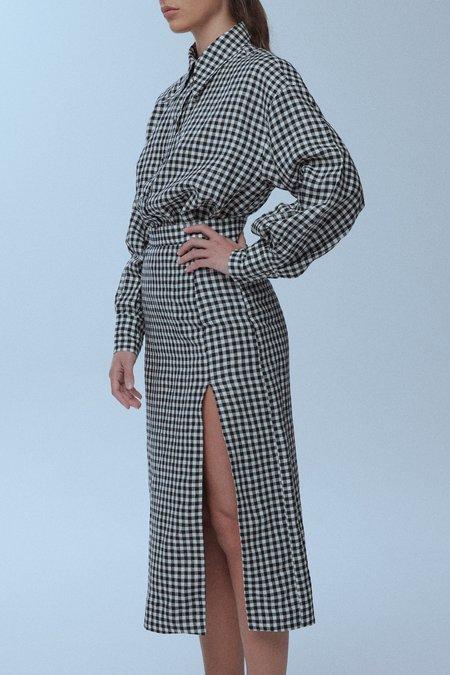 baaby Thigh Split Skirt - Gingham