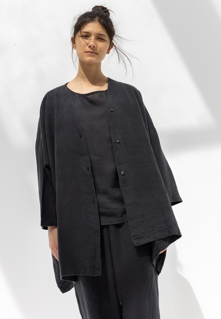 Black Crane Jacket - Faded Black