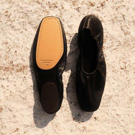 Mari Giudicelli Travel Ballerina - Black Lambskin