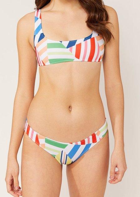 Solid and Striped Elle Bottom - Broken Stripes Multi