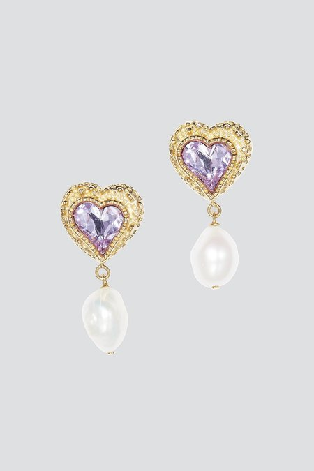 Safsafu Eden Love Earrings - Pink