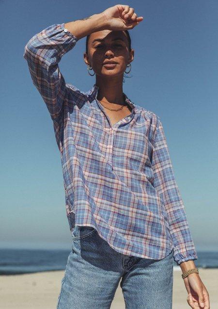 Trovata Sara Henley Shirt - Montauk Plaid