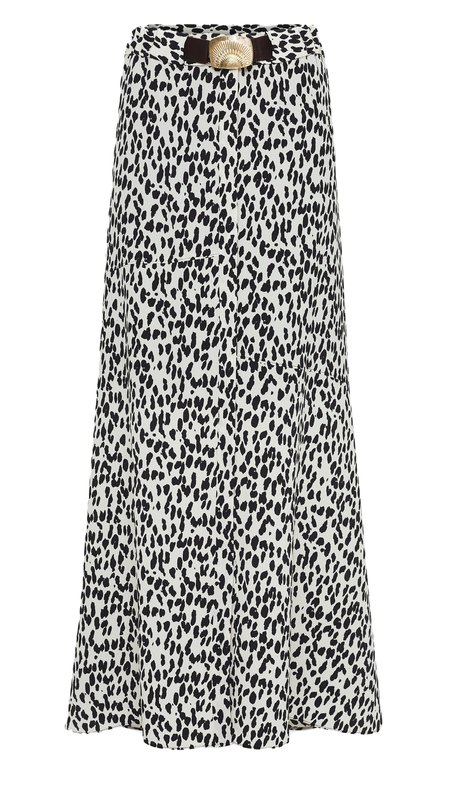 Dorothee Schumacher Wild Moment Skirt - Black/White Leopard