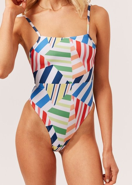 Solid And Striped Chelsea One Piece - Broken Stripes Multi