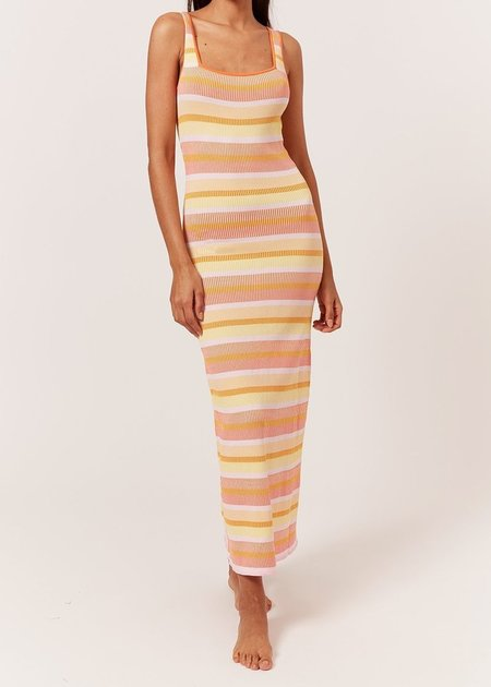 Solid And Striped Kimberly Dress - Technicolor Mosaic Sorbet