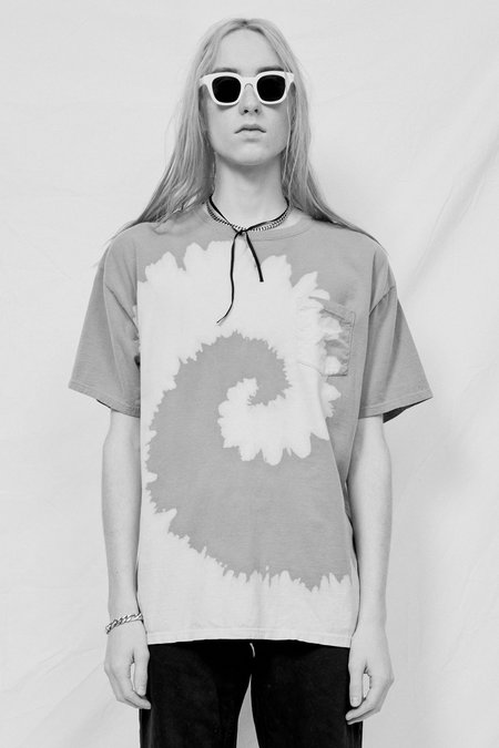 Assembly Tie Dye T-Shirt - Peach/Grey