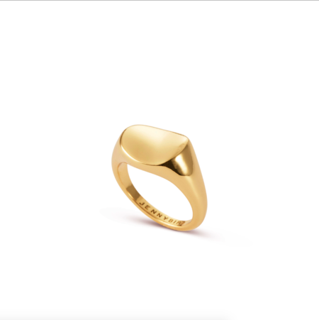 Jenny Bird Dee Signet Ring - 14K gold-dipped brass