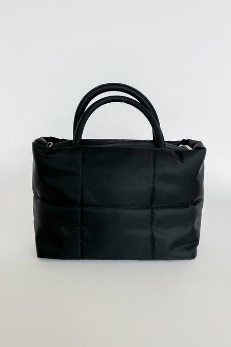Vintage Quilted Grid Sport Purse BAG - BLACK