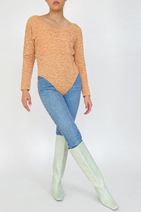 Vintage Textured Bodysuit - Blush
