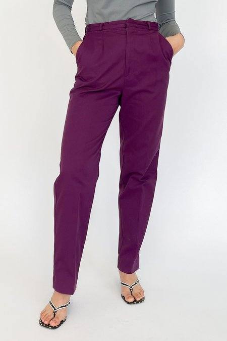 Vintage High Rise Trousers - violet