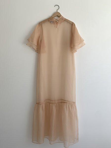 Kamperett Barre Silk Organza Dress - Blush
