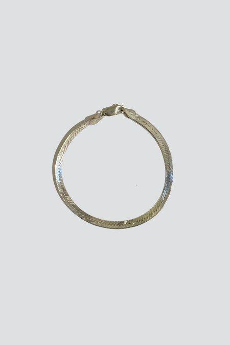 Vintage Herringbone Bracelet - Sterling Silver