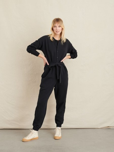 Alex Mill French Terry Jumpsuit - Washed Black