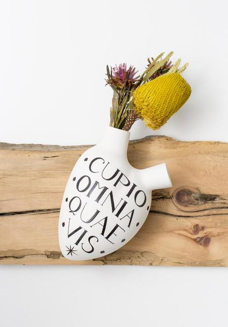 Studio Elica Wish Porcelain Anatomical Heart Wall Vase