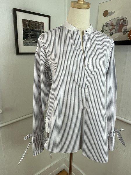 [Pre-loved] Rag & Bone Tie Sleeve Blouse - Blue/White