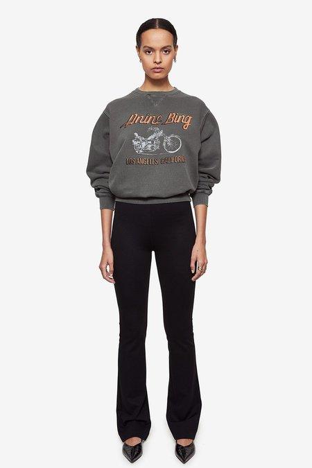 Anine Bing Ramona Motorcycle Sweatshirt  - Charcoal Black