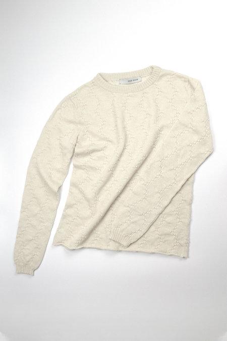Ros Duke ZIGZAG LONGSLEEVE sweater - Chalk