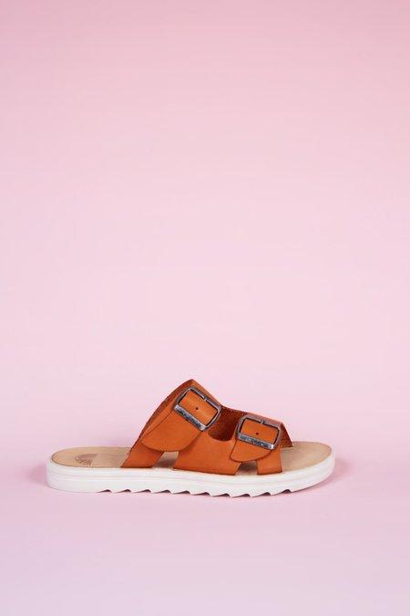 """INTENTIONALLY __________."" Express Sandals - Orange"