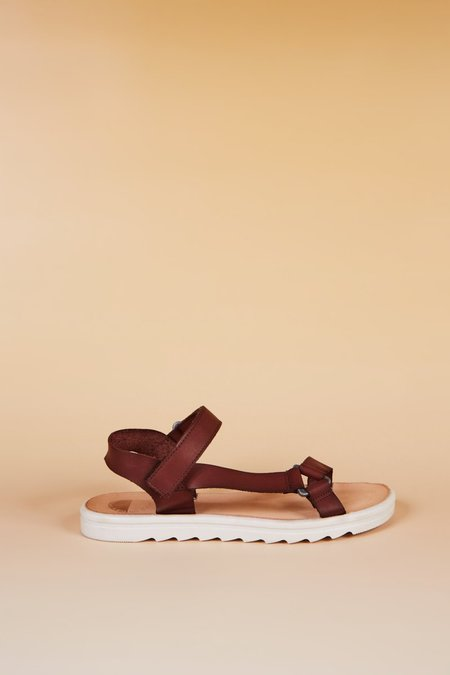 """""""INTENTIONALLY __________."""" Transfer Sandals - Brown"""
