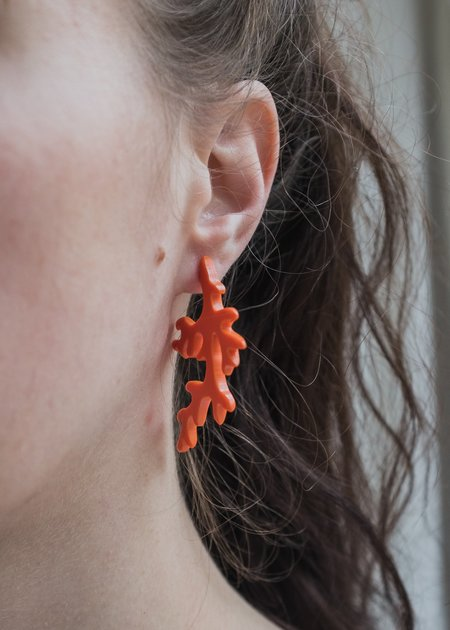 Woll hoops - Coral